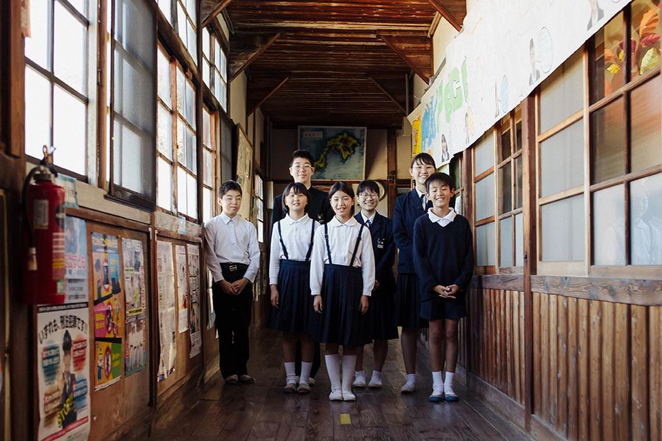 全校生徒7人の学校